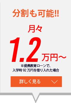 分割も可能!月々1.2万円~
